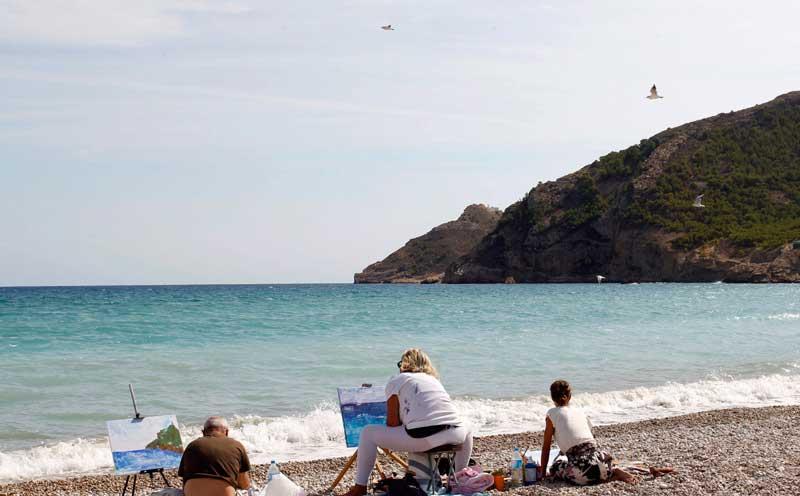 VI Encuentro de Pintores este sábado 10 de octubre en la playa de l'Albir
