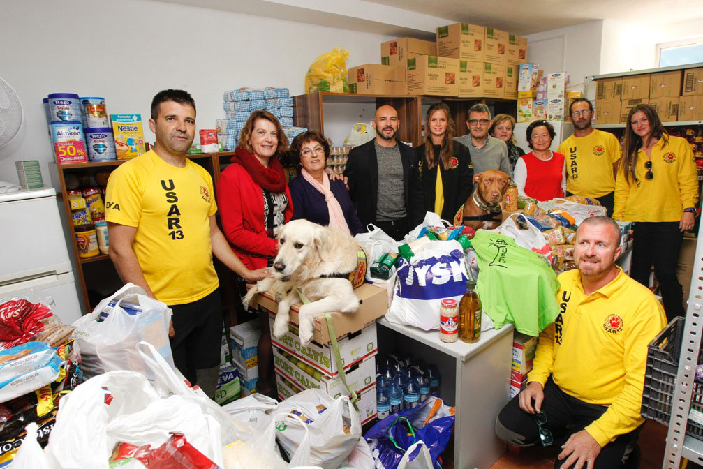 El Voluntariado Social de l'Alfàs del Pi agradece los 1.500 de alimentos donados por U.S.A.R-13