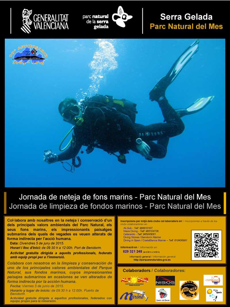 Jornada de limpieza de fondos marinos en Serra Gelada