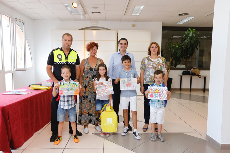 220 niños de Infantil y Primaria participan en el Concurso de Dibujo de Educación Vial