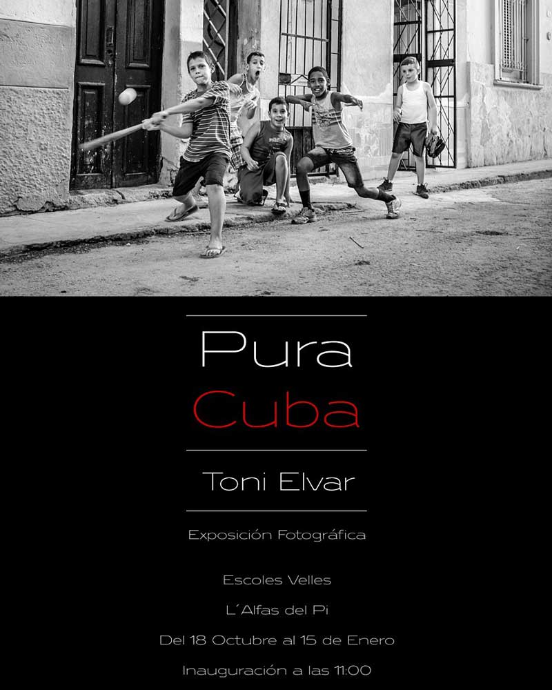 """El Fotógrafo de L'Alfàs Toni Elvar presenta la exposición """"Pura Cuba"""" en las Escuelas Viejas"""