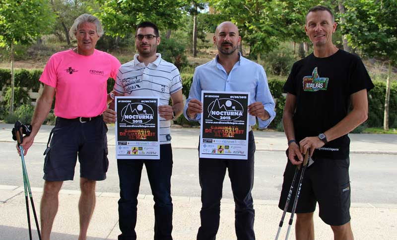 Hoy se ha presentado la 8ª Caminata Nocturna  que organizan las Concejalías de deportes de l'Alfàs del Pi , Altea  y la FENWA.