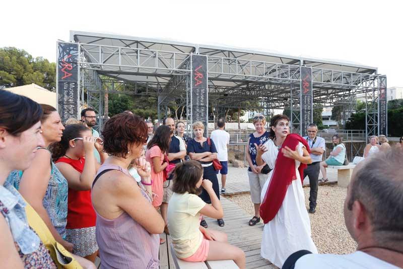 El Museo al Aire Libre Villa Romana recibe un millar de visitas en julio