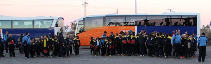 4 autobuses con padres y jugadores acudirán al partido, Elche CF vs At. Bilbao.