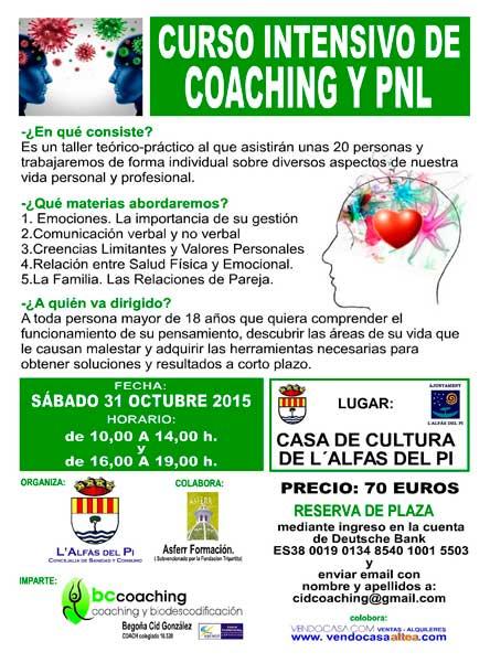 La casa de cultura acoge un curso de Coaching y Programación Neurolingüística