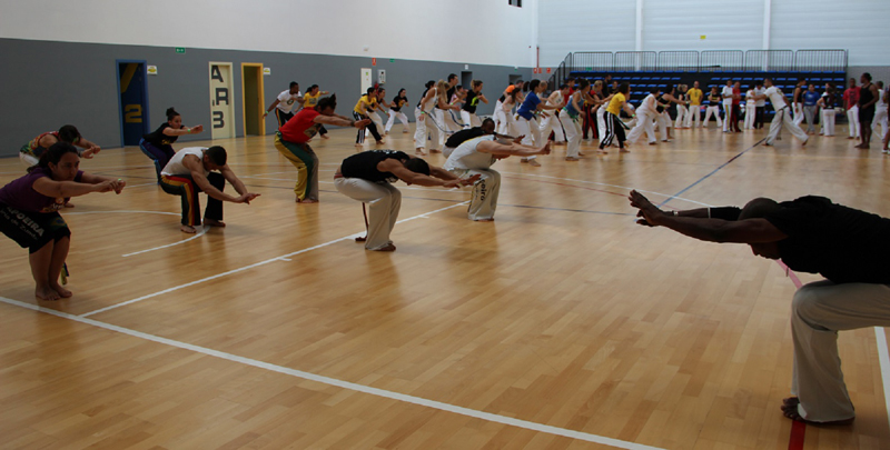 El pabellón Pau Gasol acogio la 3º  concentración  internacional de Capoeira