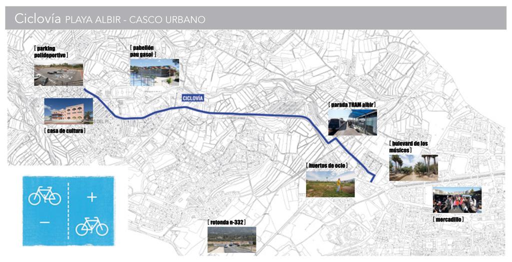 El Ayuntamiento de l'Alfàs del Pi conectará l'Albir y el casco urbano a través de una ciclovía
