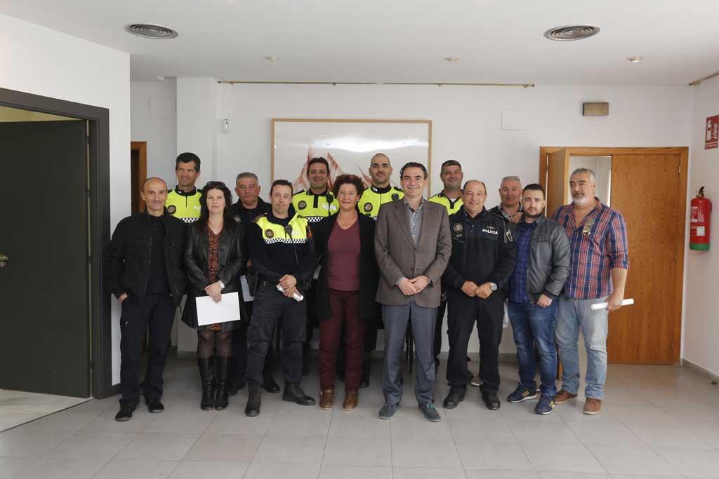 El Ayuntamiento de l'Alfàs del Pi reconoce la labor de la Policía Local