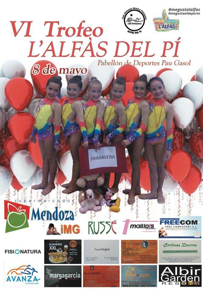 El pabellón Pau Gasol albergará el domingo el VI  trofeo de Gimnasia Rítmica y el III Encuentro de Escuelas de Marina Baixa.