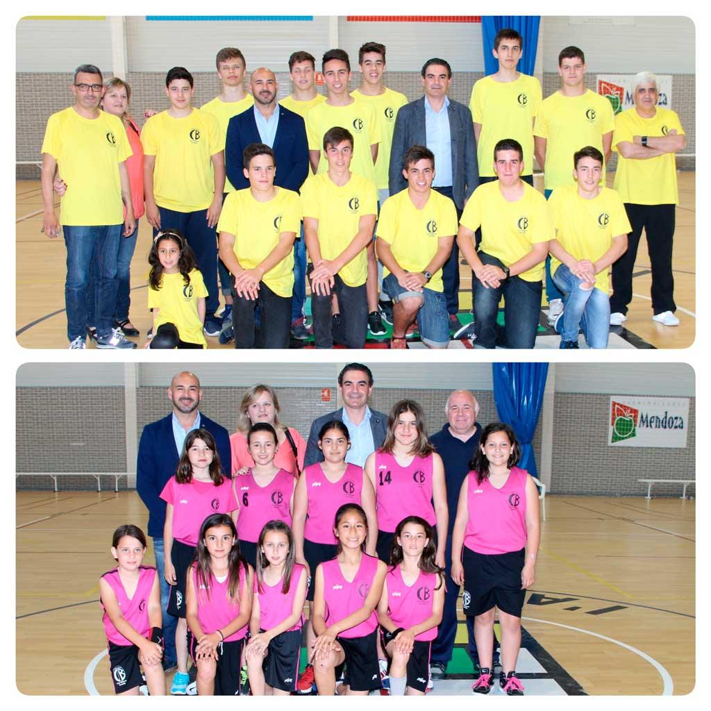 El Alcalde de l'Alfàs del Pi ha visitado a dos equipos de básket campeones de liga de esta temporada.