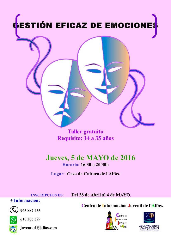 Juventud organiza un taller sobre gestión eficaz de las emociones