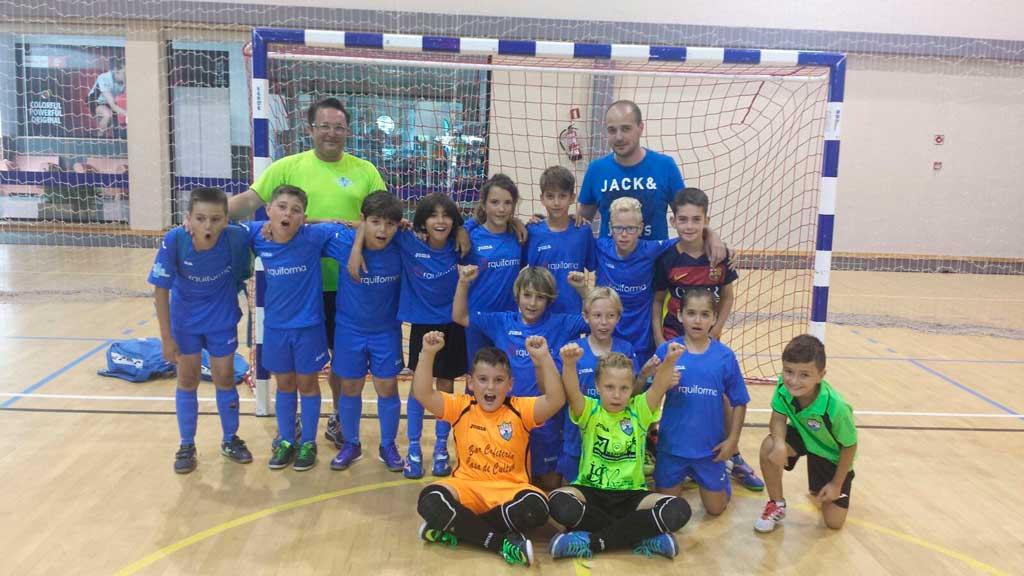 Benjamines y pre-benjamines del CFS l'Alfàs del Pi ganan el  I Torneo de Fútbol Sala de La Nucía