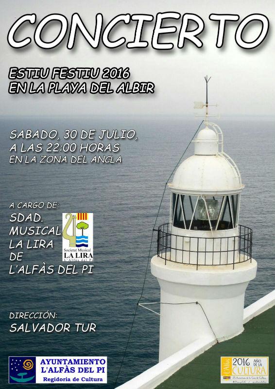 La Lira ofrece este sábado un concierto en la playa de l'Albir