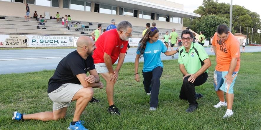 La concejalía de deportes l'Alfàs del Pi está ofreciendo sesiones   de entrenamientos específicos para personas discapacitadas.