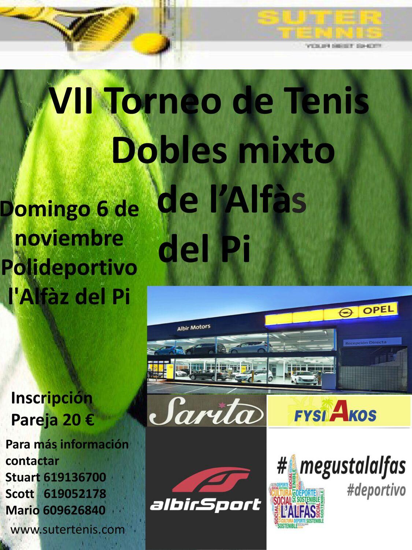 Este  domingo se  celebra el  séptimo  torneo de tenis de dobles Open Mixto de l'Alfàs del Pi.