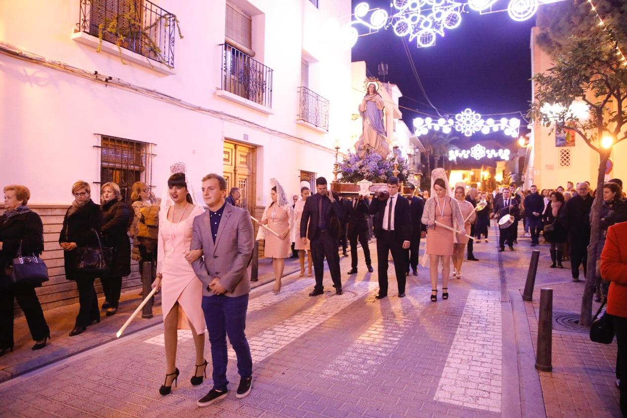 Las fiestas de la Purísima culminan con una multitudinaria procesión en honor a la Virgen