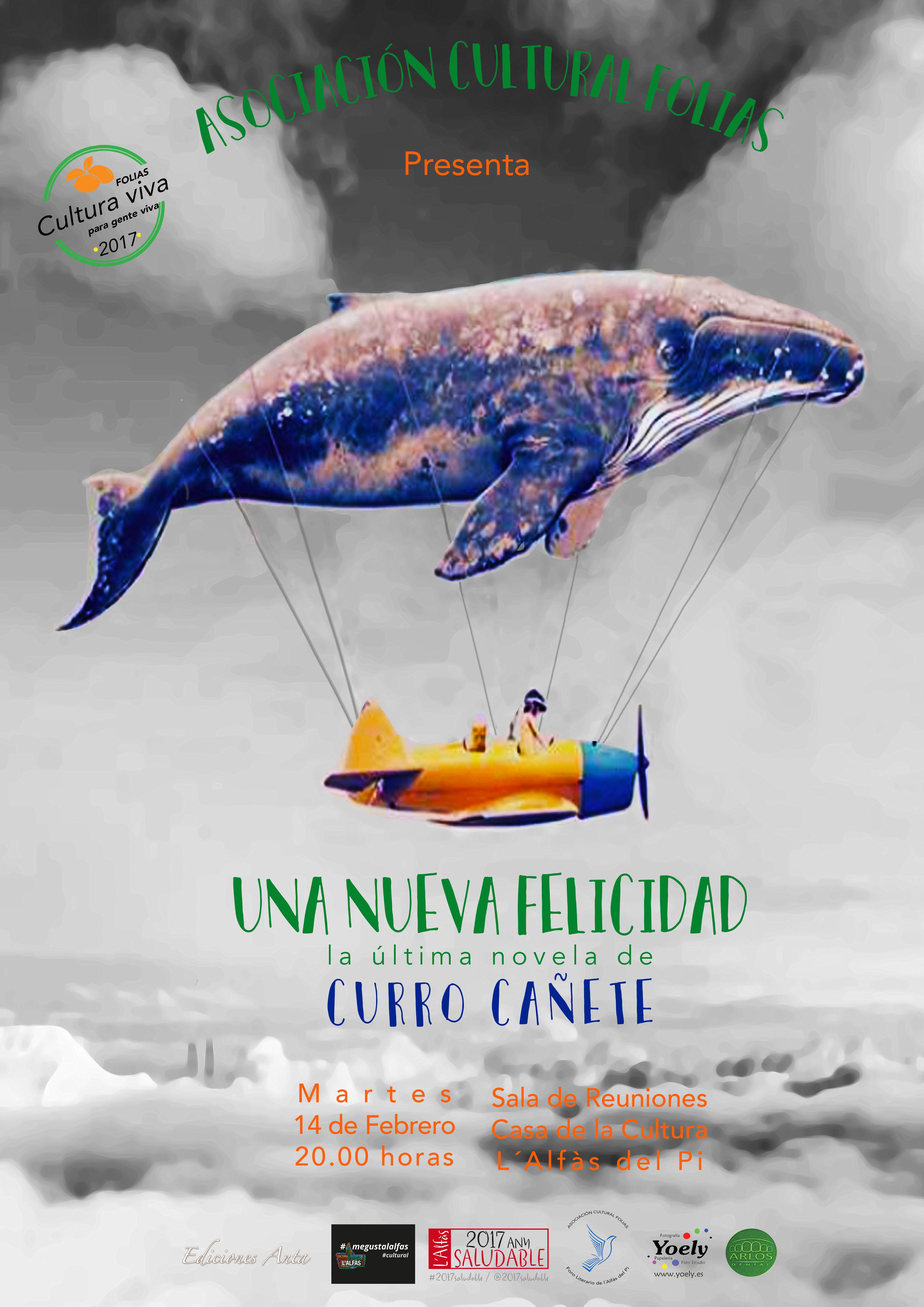 El periodista Curro Cañete presenta mañana en l'Alfàs su novela 'Una nueva felicidad'