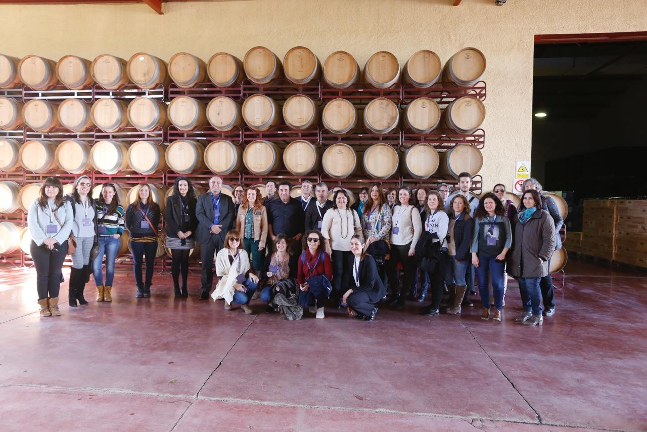 Una treintena de informadores turísticos participan en l'Alfàs en un Fam Trip sobre enoturismo