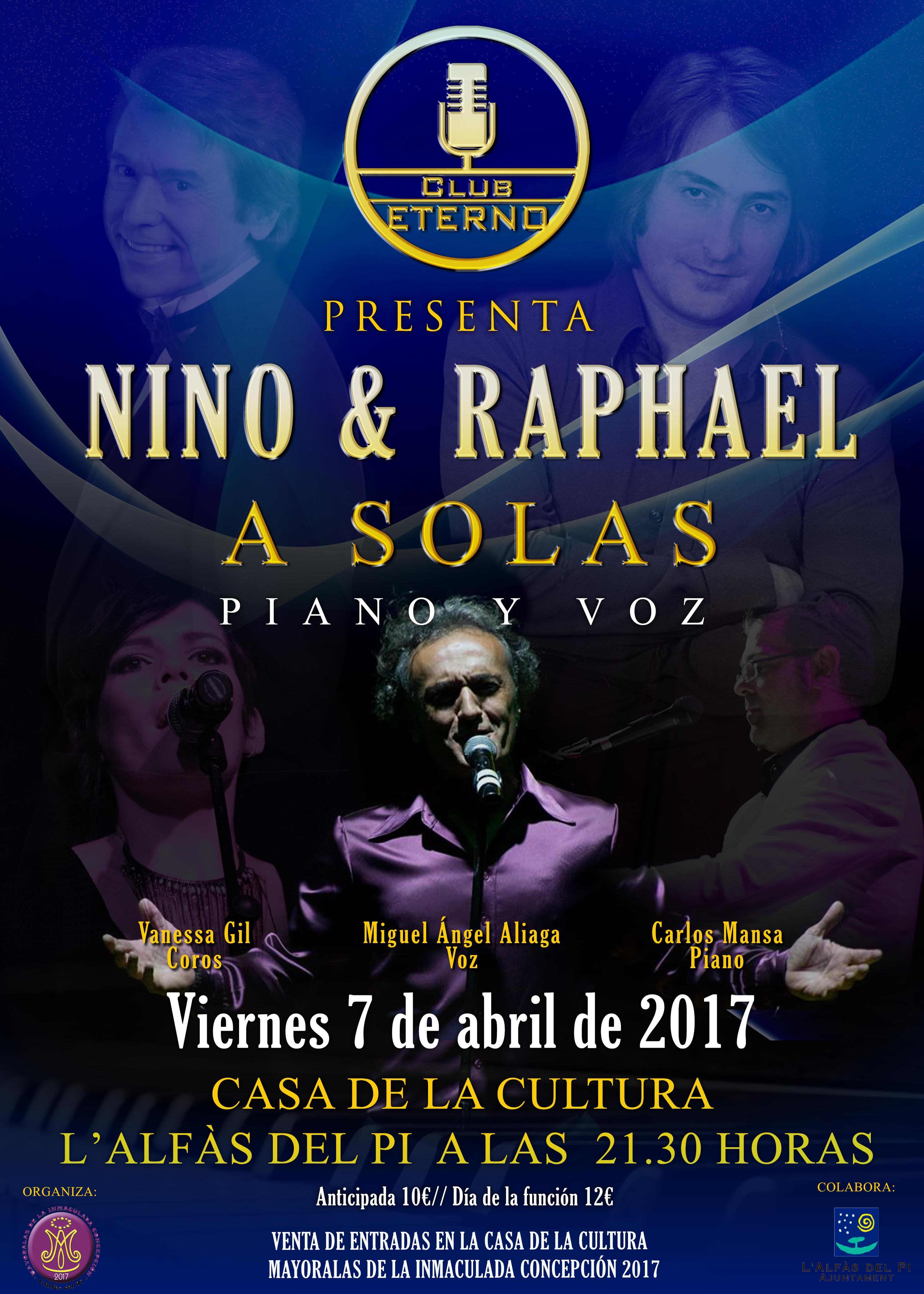 Las mayoralas de la Purísima organizan un concierto tributo a Nino Bravo y Rafael