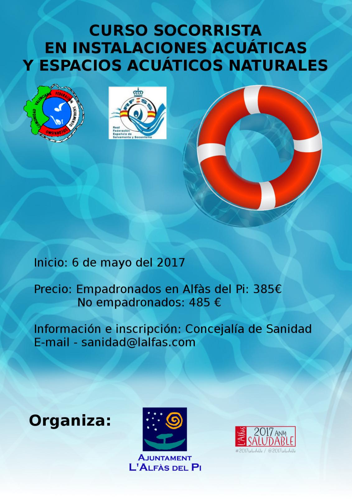 Sanidad y la ADL de l'Alfàs del Pi lanzan un curso de socorrismo acuático