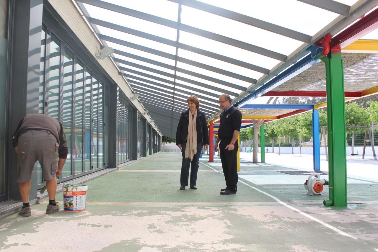 El Ayuntamiento de l'Alfàs aprovecha la Semana Santa para realizar obras de mantenimiento en los colegios