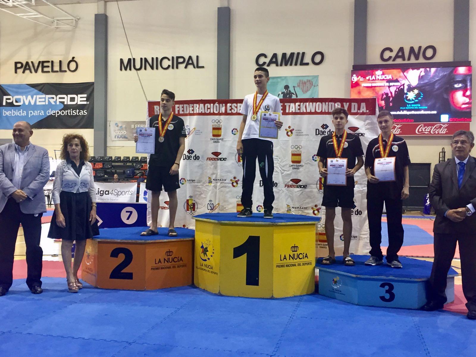 Adrián Rodríguez bronce en el campeonato de España de Taekwondo.