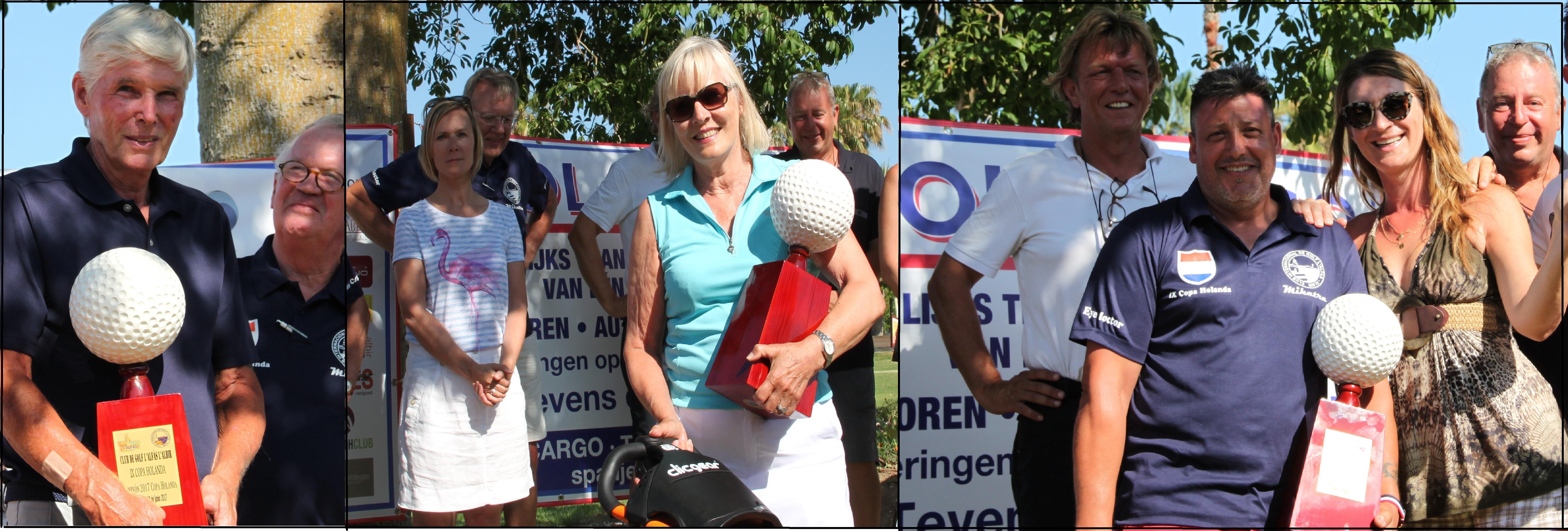 Leo Wammes , Ramón Valero y Liv Rostoen fueron los ganadores de la IX edición de la Copa Holanda de Golf