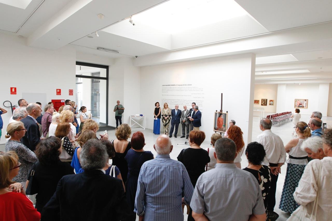 """Acto inaugural  de la exposición """"Juan Navarro Ramón. El lenguaje de los colores"""" en la Fundación Frax"""