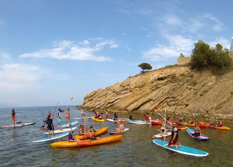 kayak y paddel surf en albir