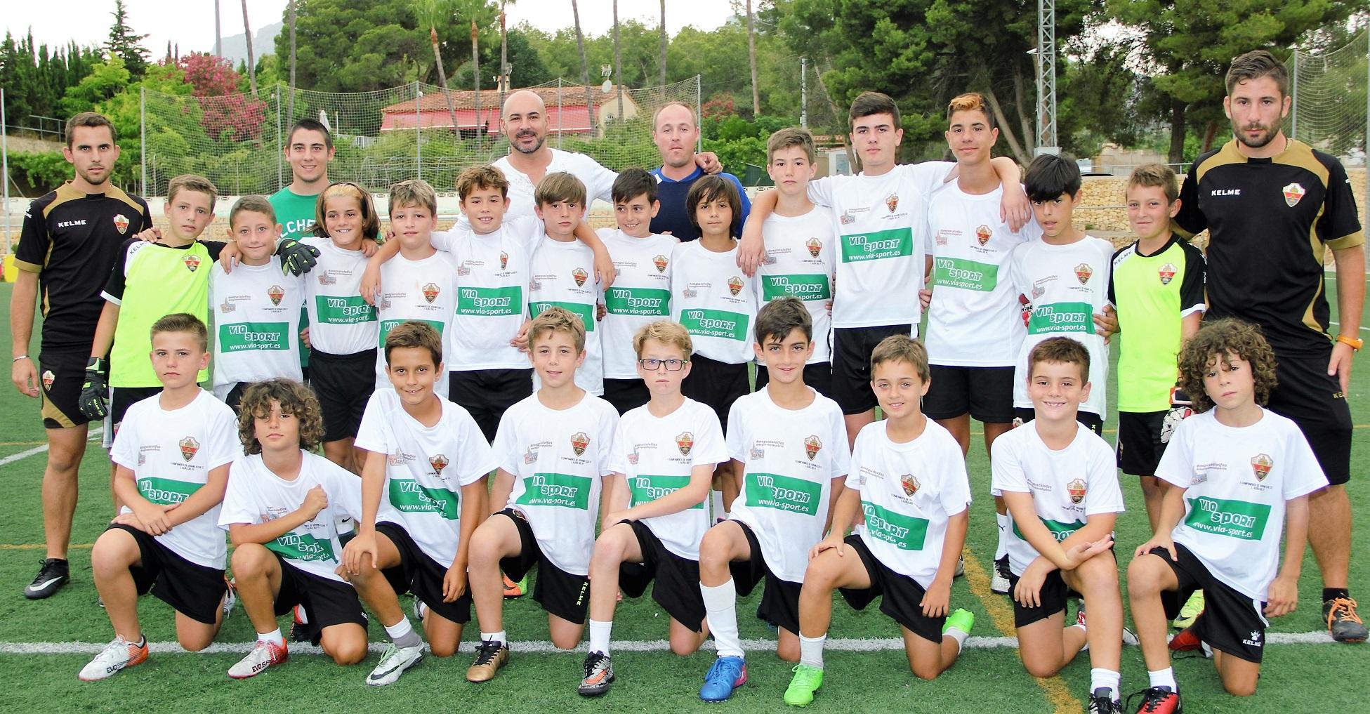 El concejal de deportes   ha visitado a los jugadores del  campus de tecnificación  del Elche CF