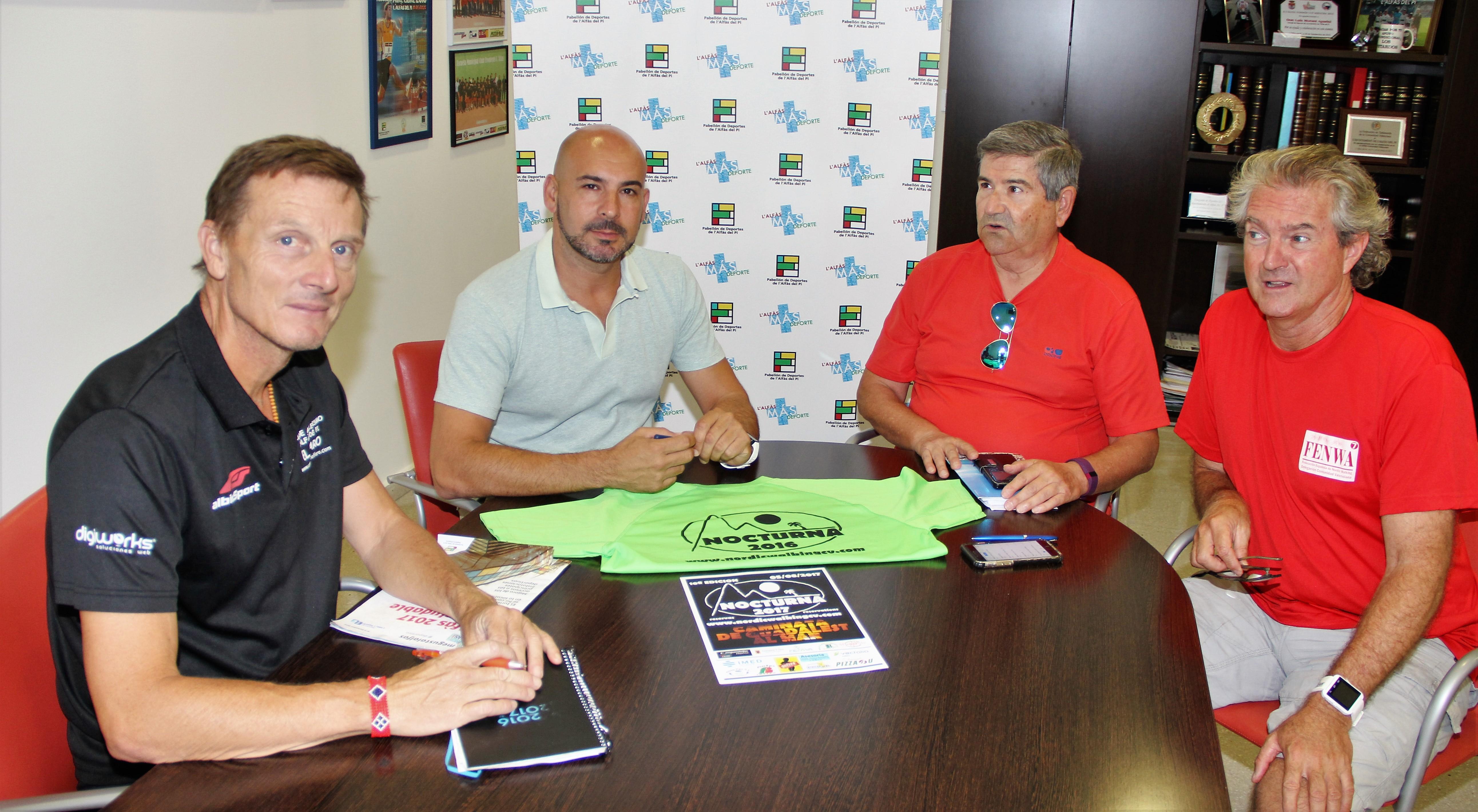 La FENWA y las concejalía de deportes de l'Alfàs del Pi  preparan ya  la 10ª Caminata Nocturna que será el 5 de agosto.