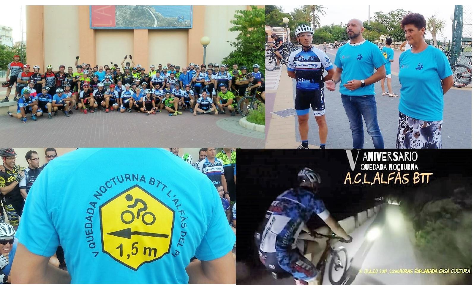 85  ciclistas participaron en la V Quedada Nocturna de la A.C. BTT l'Alfàs.