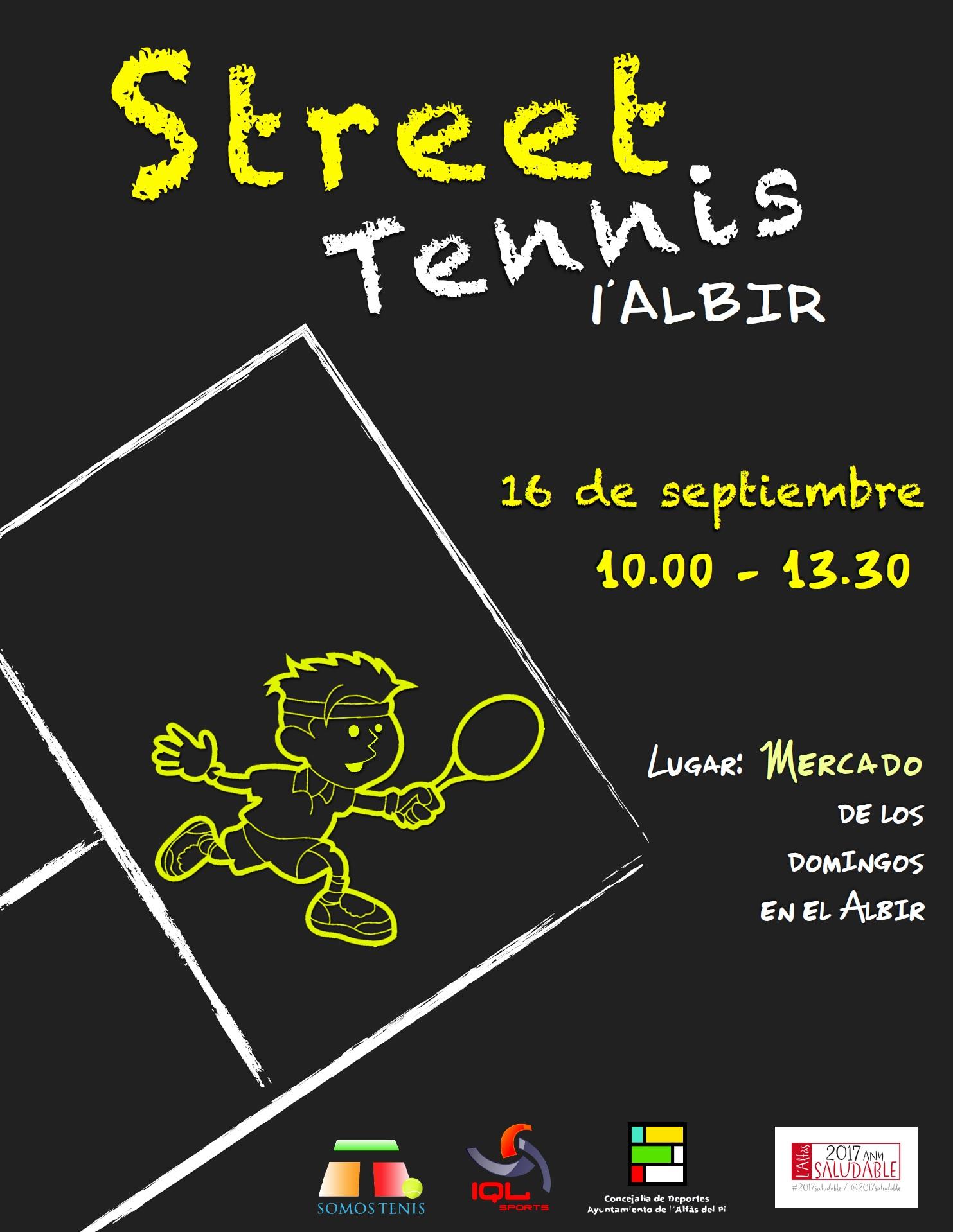 EL Albir acogerá una jornada de Street Tennis el próximo 16 de septiembre