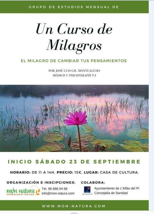 Curso en la Casa de Cultura con el psicoterapeuta José Luis Gil Monteagudo