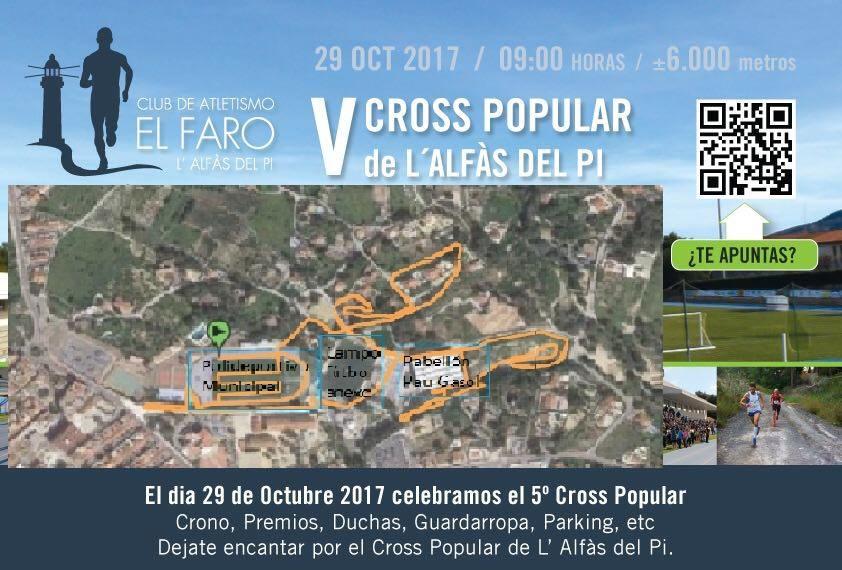 Ya se ha publicado el recorrido del V Cross Popular de l'Alfàs.