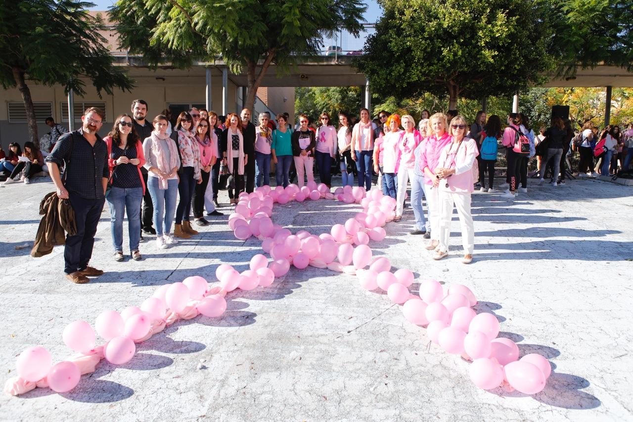 El instituto de l'Alfàs se adhiere a la campaña contra el cáncer de mama