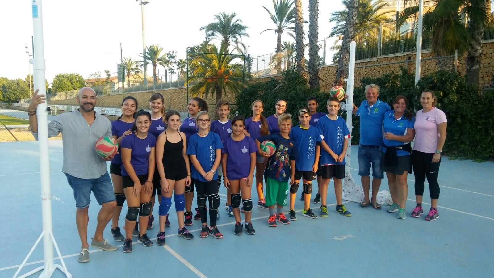 MYA NO. Colabora con el club de voleibol de l'Alfàs del Pi .