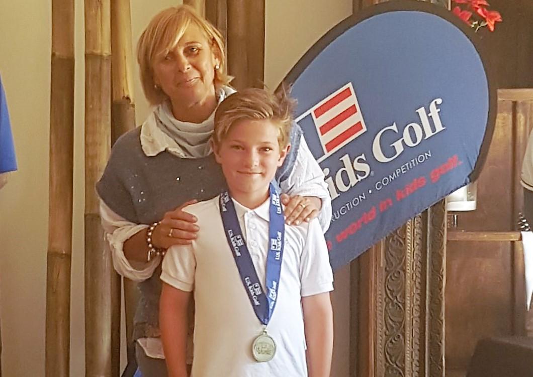 Max Risvag , la gran  promesa de la escuela municipal de golf participará en el US open Kids de Golf en EEUU.