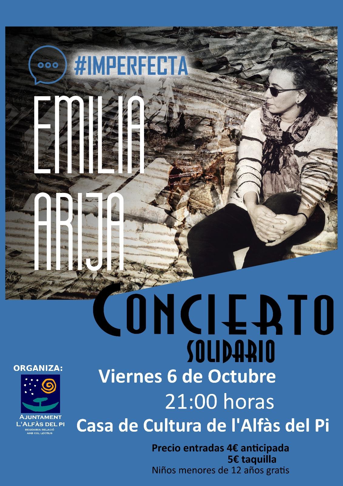 Concierto solidario de Emilia Arija en la Casa de Cultura de l'Alfàs
