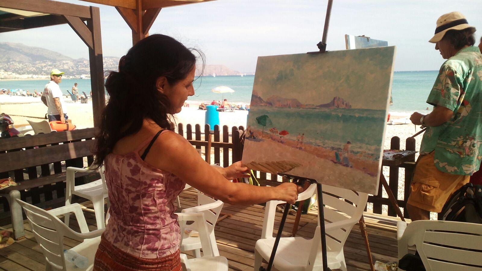 La Playa Racó de l'Albir escenario de un nuevo encuentro de Pintores