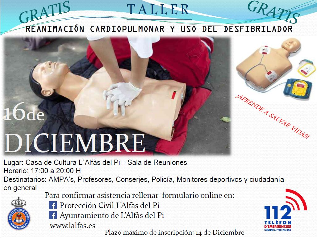 Nuevo curso de reanimación cardiopulmonar y uso del desfibrilador