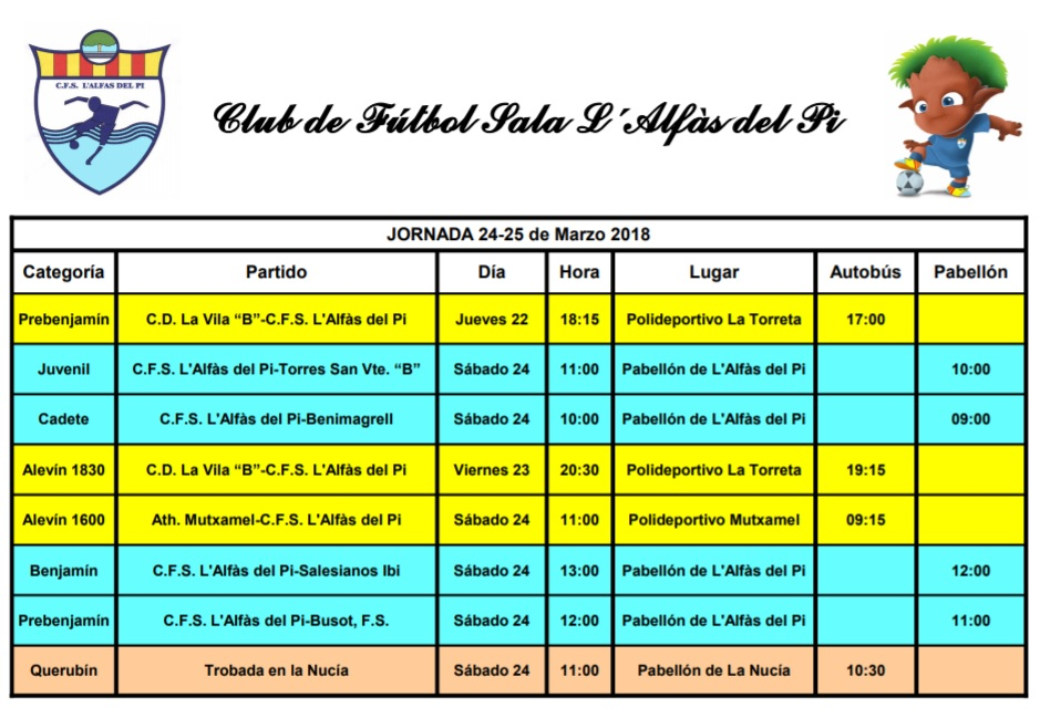 Partido de Fútbol Sala de los equipos de l'Alfàs del Pi