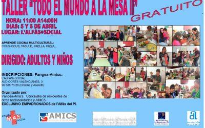 Cocina en familia esta Semana Santa en l'Alfàs con el taller 'Todo el mundo a la mesa'