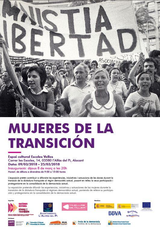 La próxima semana llega a l'Alfàs la exposición 'Mujeres de la Transición'