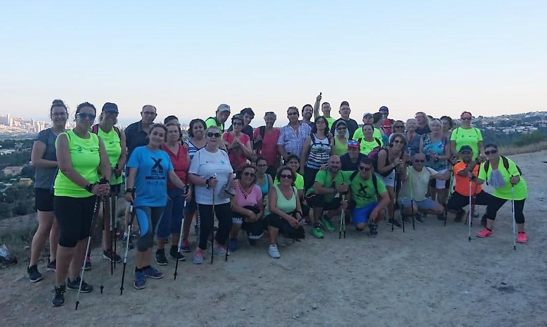 Éxito de participación en la sexta  caminata verde organizada por la concejalía de Deportes de l'Alfàs
