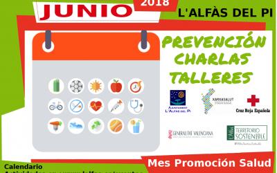 La concejalía de Sanidad de l'Alfàs lanza en junio el Mes de Promoción de la Salud