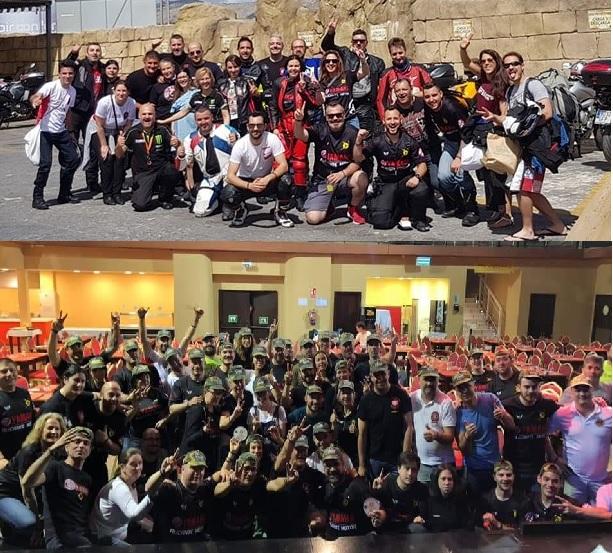 Mas de 80 motoristas han participado en las concentración que   FZ6 Alicante realizó en l'Alfàs del Pi