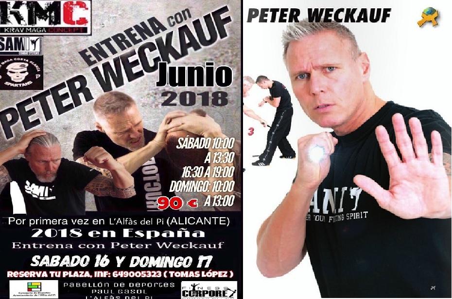 Peter Weckauf el mejor entrenador de Krav Maga del mundo   estará en l'Alfàs del Pi impartiendo un curso específico de defensa personal.