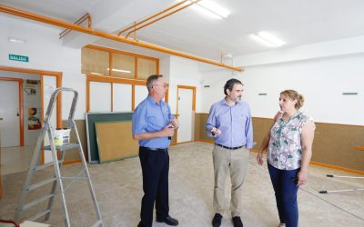 Las obras de las nuevas aulas de 2 años marchan a buen ritmo