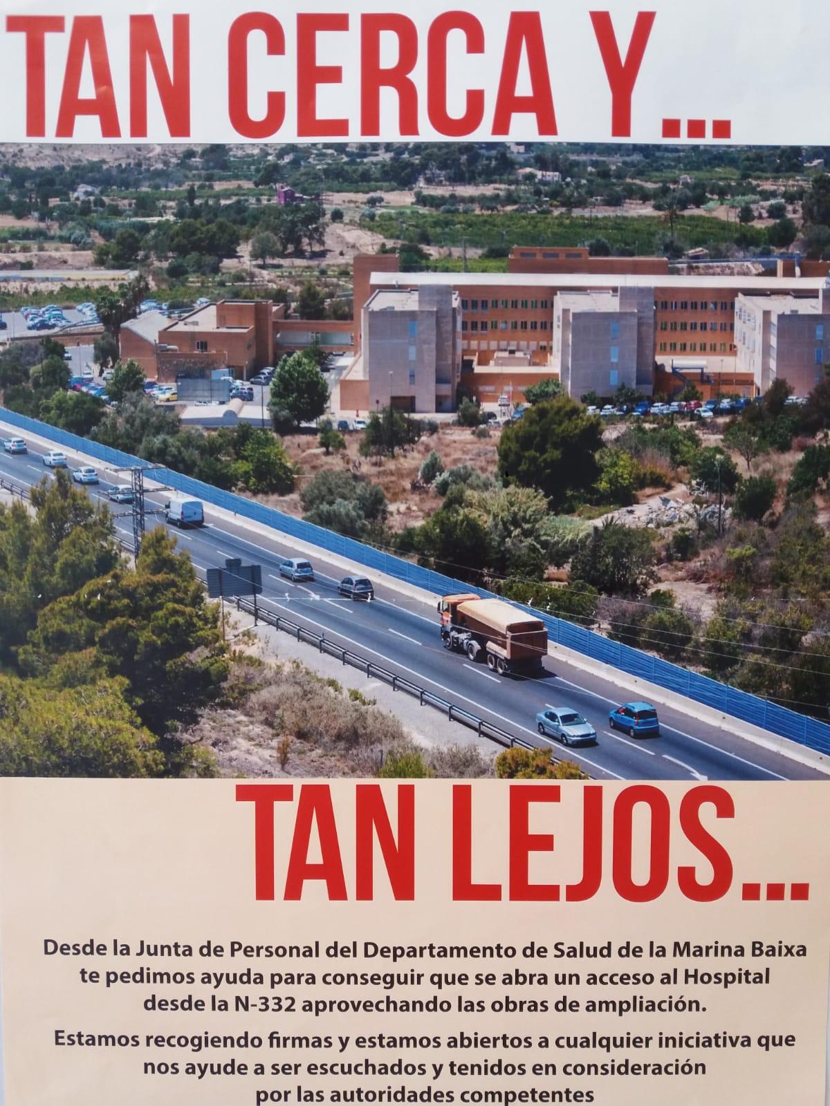L'Alfàs se adhiere a la propuesta para pedir un nuevo acceso al Hospital Marina Baixa desde la N-332